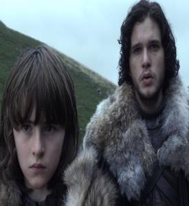 Bran stark and jon snow game of Thrones HBO