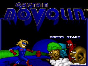 Captain Novolin SNES start screen