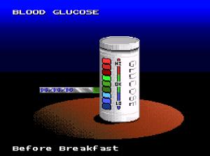 Blood glucose testing Captain Novolin SNES