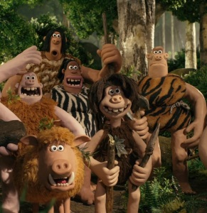 Cave people in the forest Early Man 2018 movie