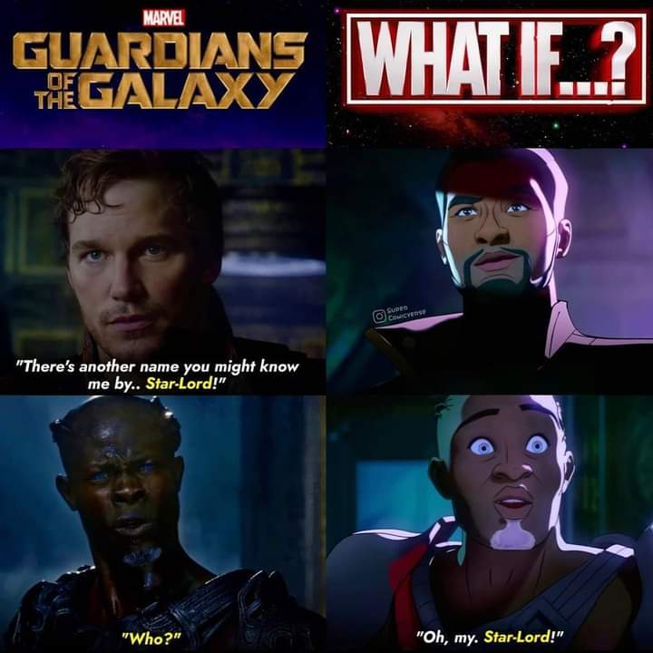 Memes Peter quill vs T'Challa Star lord