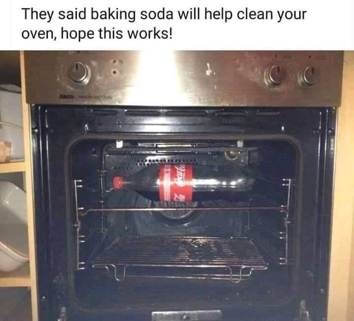 Memes baking soda oven