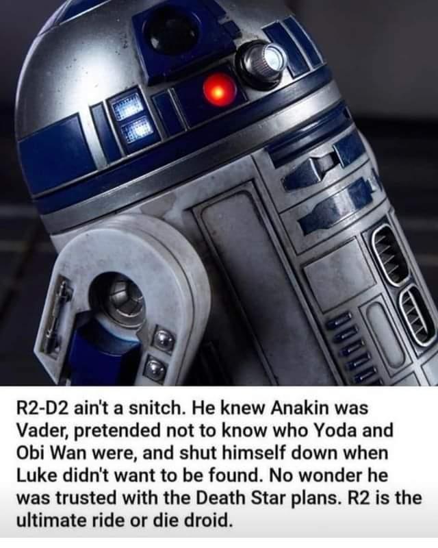 Memes master of secrets star Wars R2-D2
