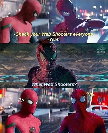Memes Spider-Man web shooters