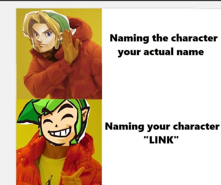 Memes naming link the Legend of Zelda