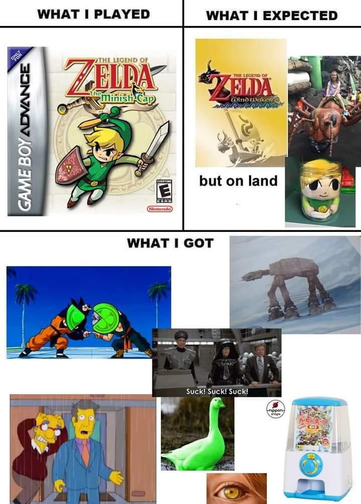 Memes the Legend of Zelda minish cap