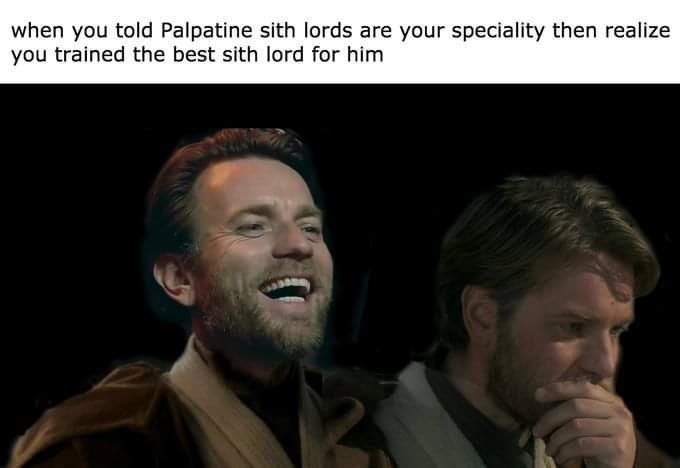 Memes Sith lord are our specialty