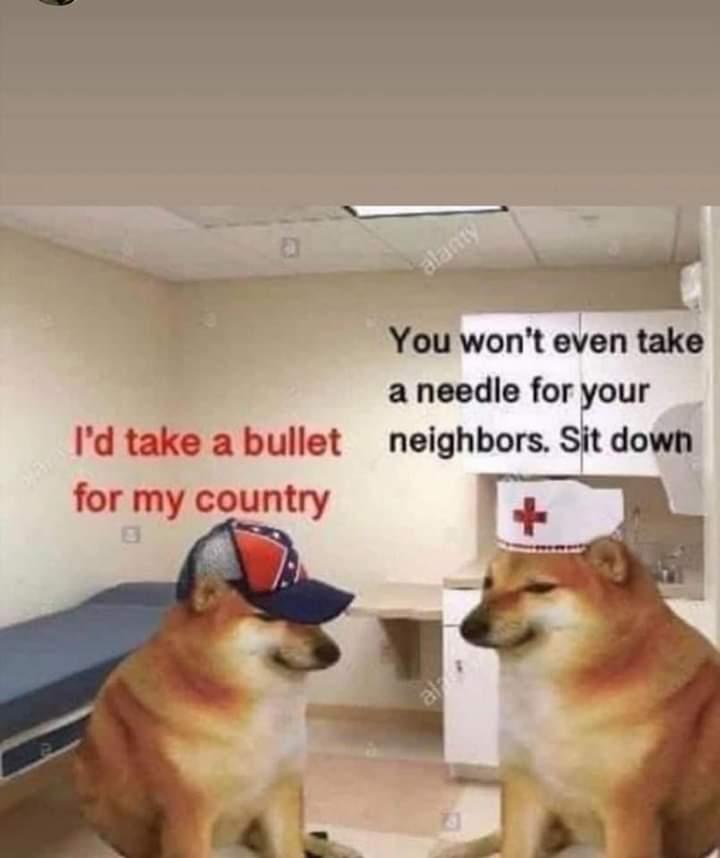 Memes Republicans refusing Covid-19 vaccine