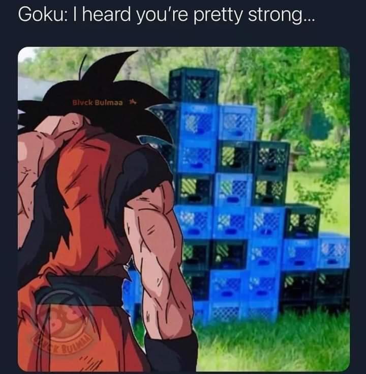 Memes goku milk crate challenge