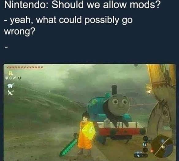 Memes the Legend of Zelda breath of the wild mods