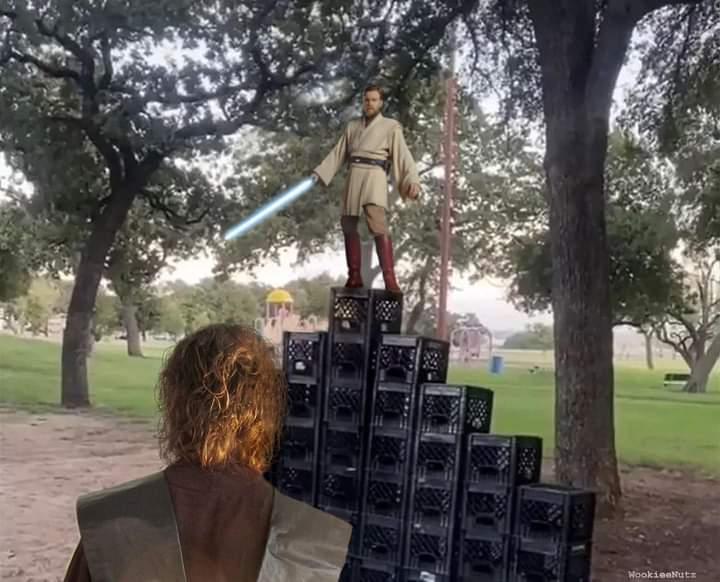 Memes Obi-Wan kenobi milk crate challenge