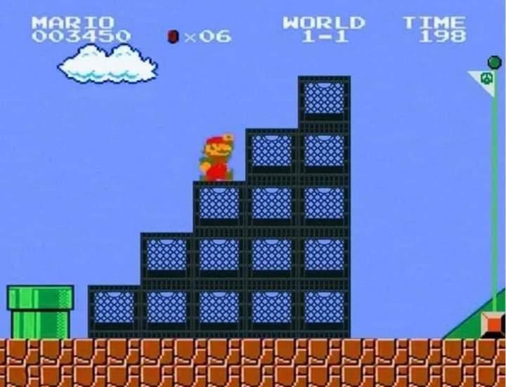 Memes Super Mario Bros milk crate challenge