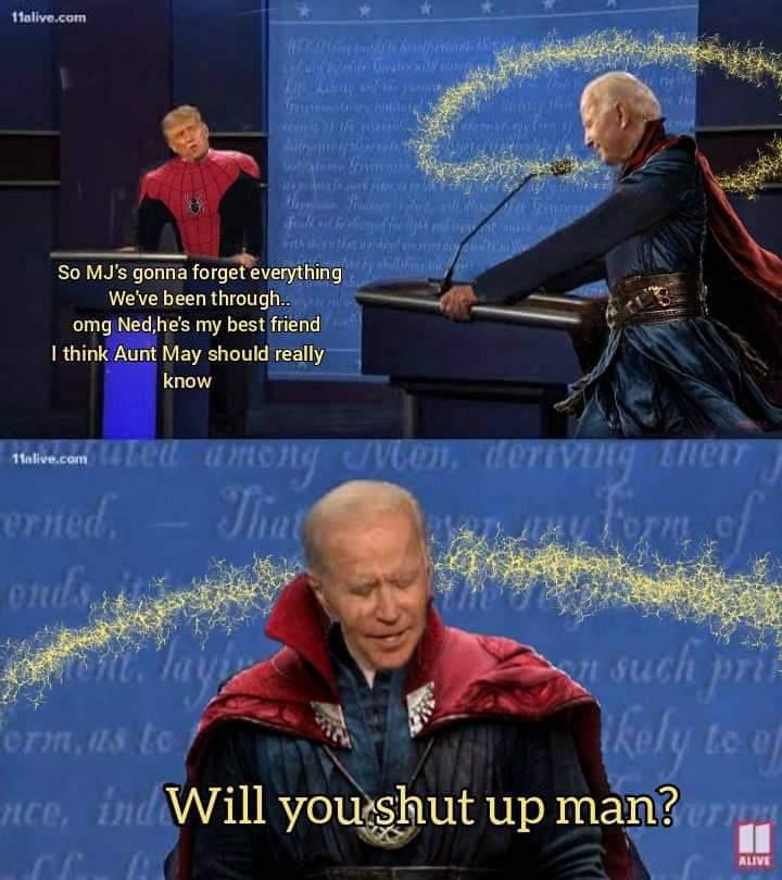 Memes Spider-Man and dr strange spell