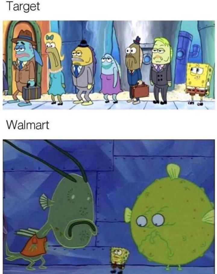 Memes target vs walmart