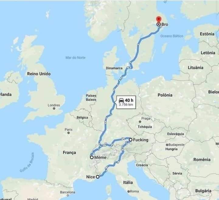 Memes funny city names Europe