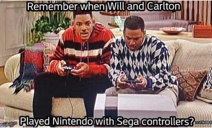 Memes fresh prince of Bel-Air Nintendo sega