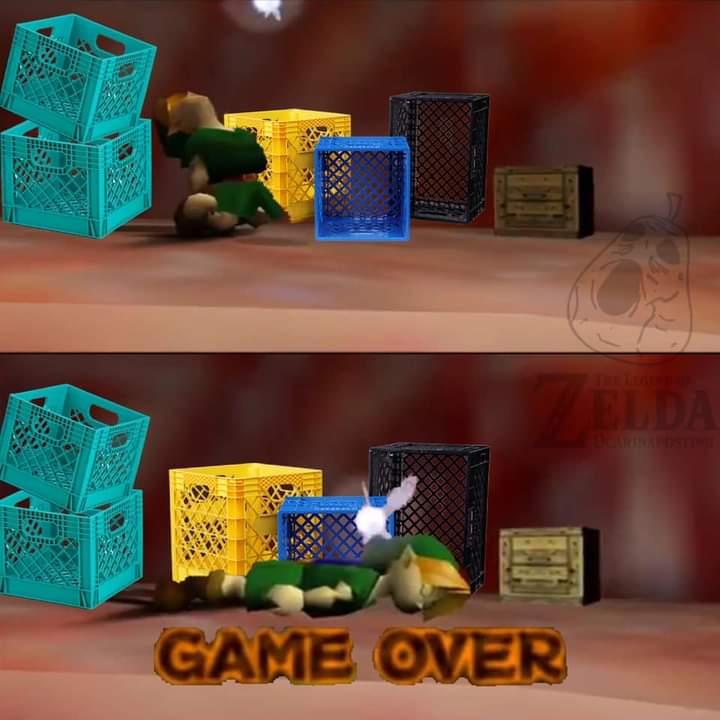 Memes link Zelda milk crate challenge