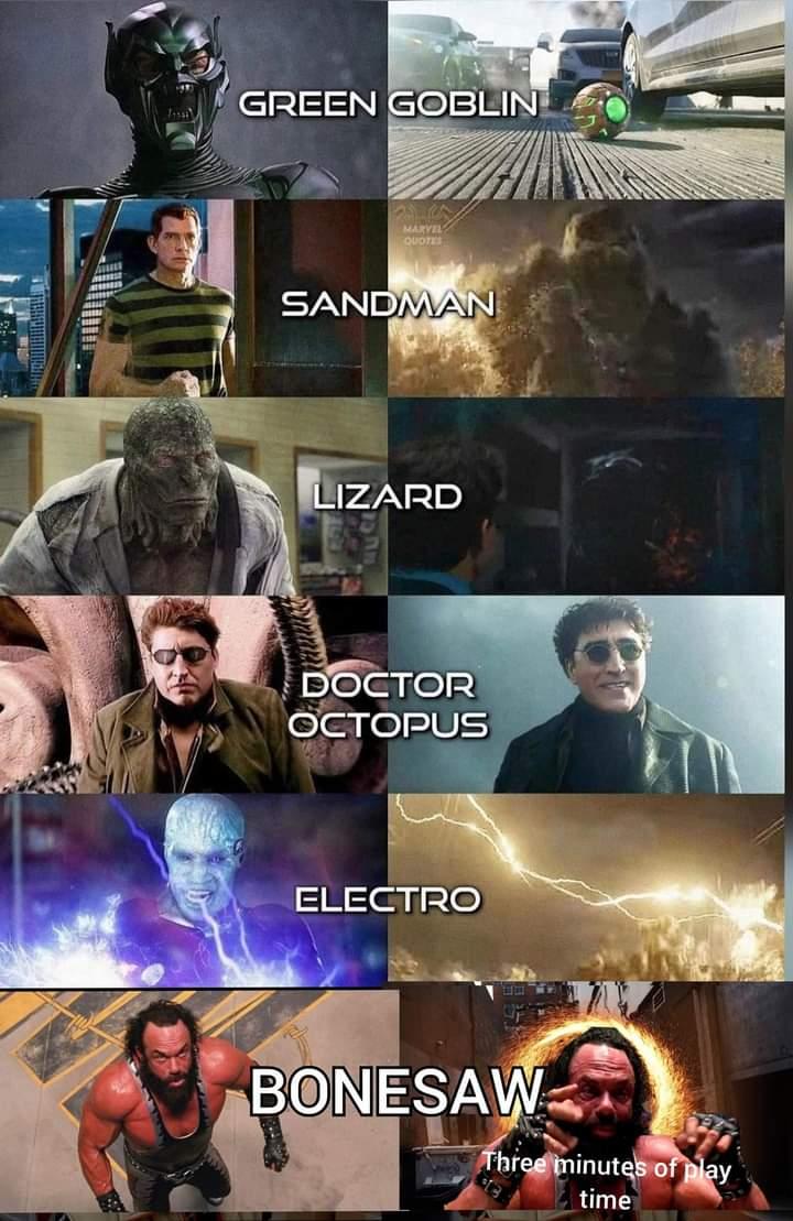 Memes bonesaw Spider-Man