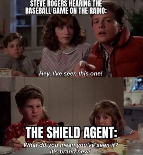 Memes Steve Rogers baseball game