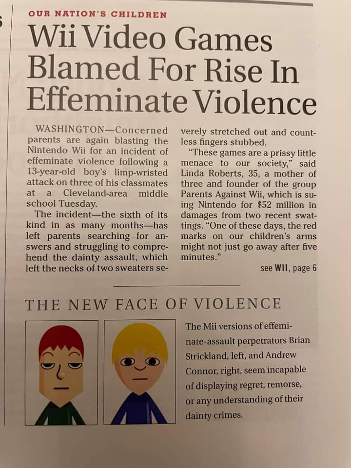Memes Nintendo Wii violence
