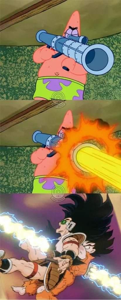 Memes Patrick star dragon Ball Z