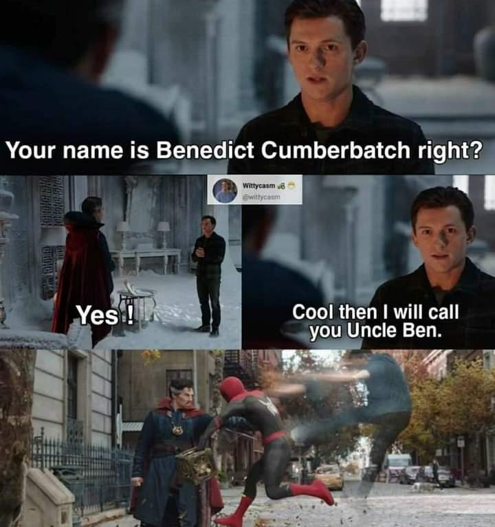 Memes Benedict Cumberbatch uncle ben