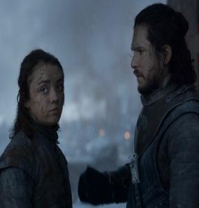 Arya Stark fighting for queen Daenerys Targaryen game of Thrones HBO