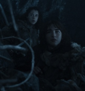 Bran stark and meera Reed game of Thrones HBO