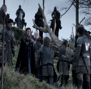 Jaime Lannister captured by king robb Stark game of Thrones HBO
