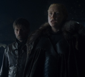 Jaime Lannister and brienne of tarth game of Thrones HBO