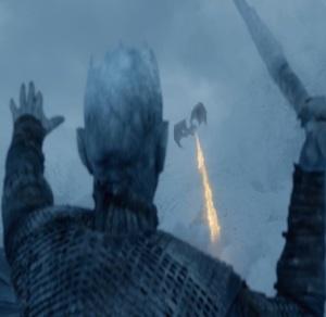 Night King kills Viserion game of Thrones HBO