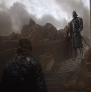 The hound vs the mountain final fight game of Thrones HBO