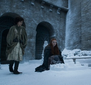 Sansa Stark and her cousin Robin game of Thrones HBO