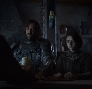 The hound asking for chicken game of Thrones HBO