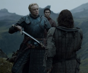 The hound vs Brienne of Tarth game of Thrones HBO