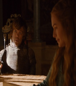 Cersei Lannister finds out Tyrion is hand of the king Game of Thrones HBO