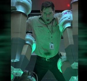 Bruce Banner hit with gamma radiation Hulk 2003 movie