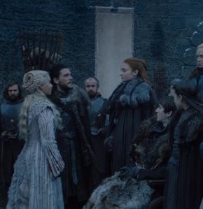 Sansa Stark meeting Daenerys Targaryen game of Thrones HBO