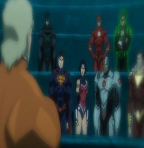 Arthur Curry meets Justice League underwater Justice League: Throne of Atlantis