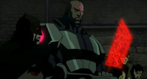 Batman and cyborg Justice League: The Flashpoint Paradox