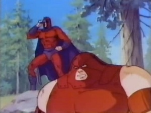 Magneto and juggernaut X-men cartoon 1990s