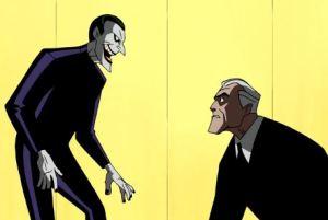 Joker shocks Bruce Wayne Batman Beyond: Return of the Joker