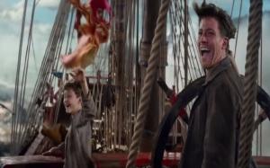 Captain hook and Peter pan on ship pan 2015