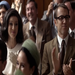 Claire and Frank Randall at Brianna's graduation outlander
