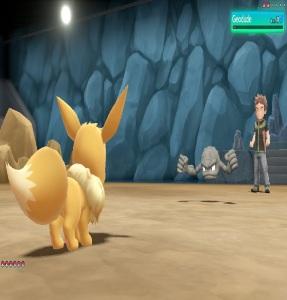 Brock using geodude Pokemon Let's Go Pikachu/Eevee Nintendo Switch