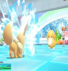 Misty using psyduck Pokemon Let's Go Pikachu/Eevee Nintendo Switch
