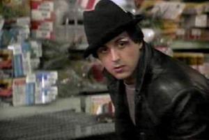 Rocky Balboa in the pet shop Rocky I