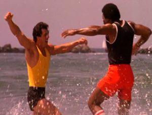 Rocky Balboa and Apollo Creed Rocky III