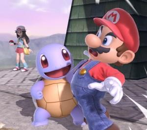 Squirtle grabbing Mario Pokemon Trainer super Smash Bros ultimate Nintendo Switch