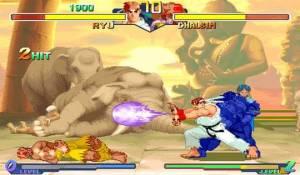 Ryu vs Dhalsim Street Figher Alpha 2 SNES